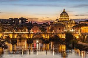vue de nuit capitale européenne