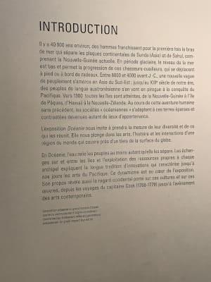 Exposition peuples d'Océanie musée quai Branly